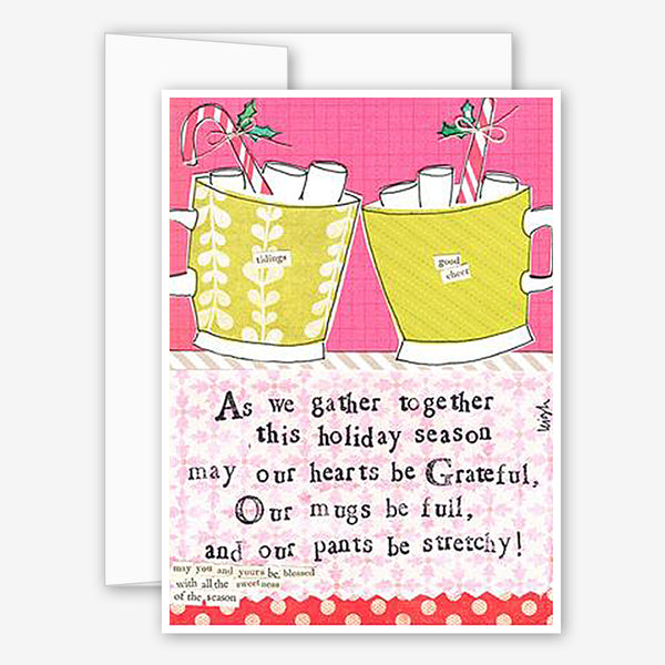 Curly Girl Design: Holiday Card: Mugs May Be Full