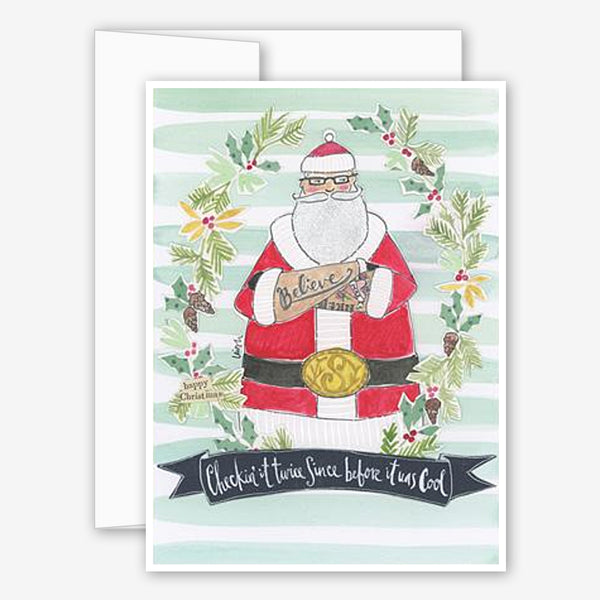 Curly Girl Design: Holiday Card: Hipster Claus