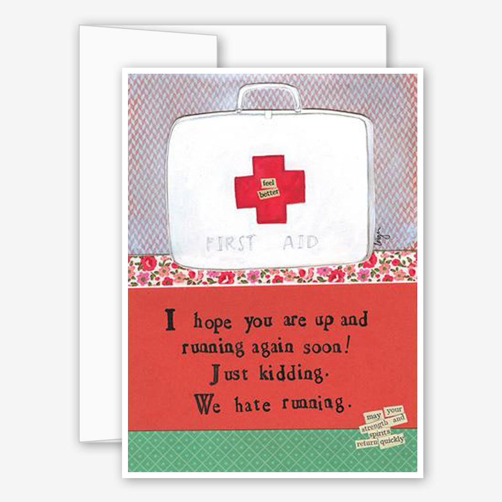 Curly Girl Design: Get Well Card: Hate Running