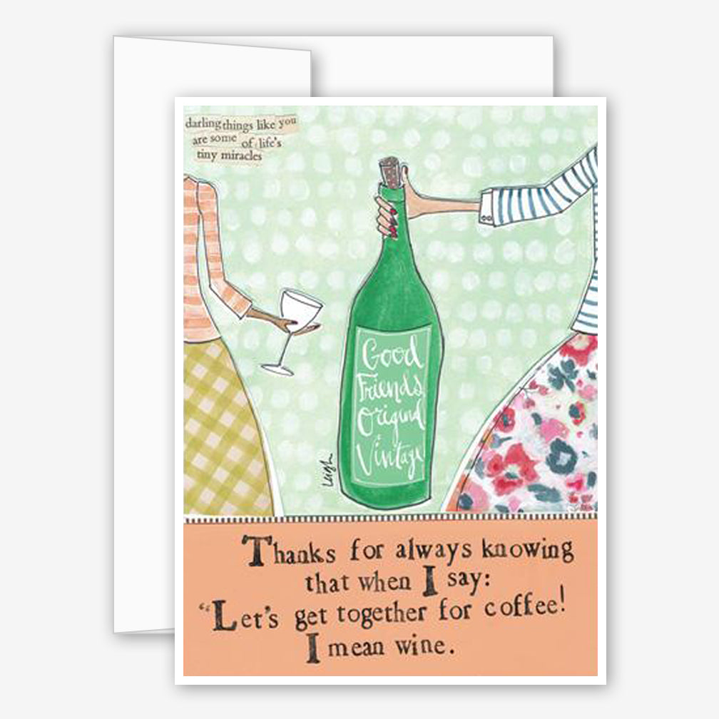Curly Girl Design: Friendship Card: Mean Wine
