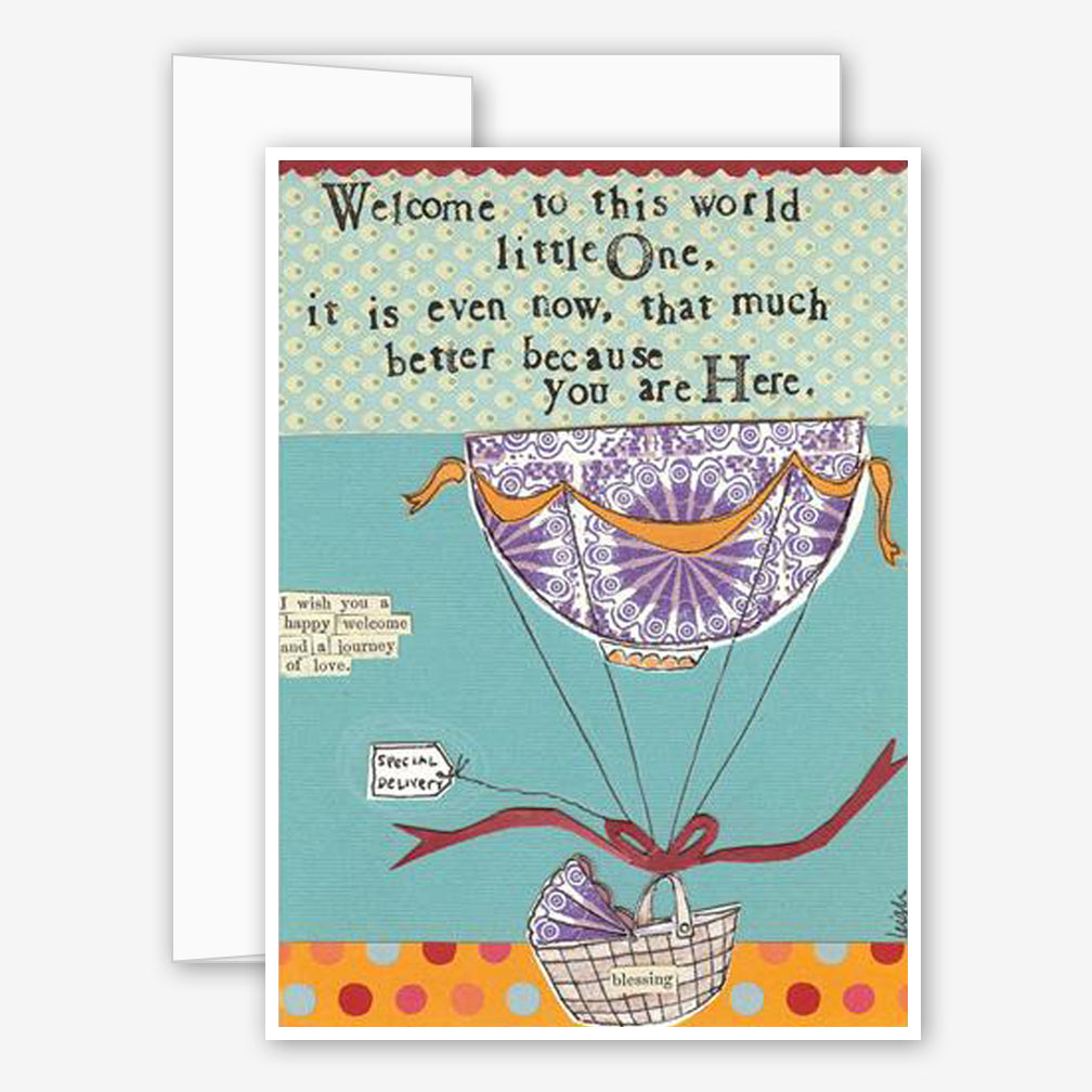 Curly Girl Design: New Parent Card: Welcome To The World