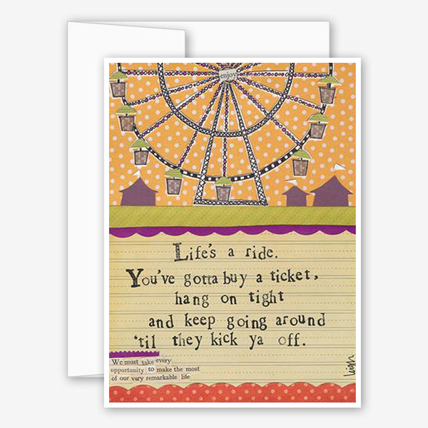 Curly Girl Design: Encouragement Card: Life's a Ride