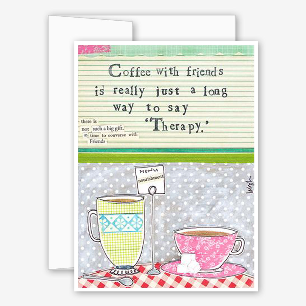 Curly Girl Design: Friendship Card: Coffee