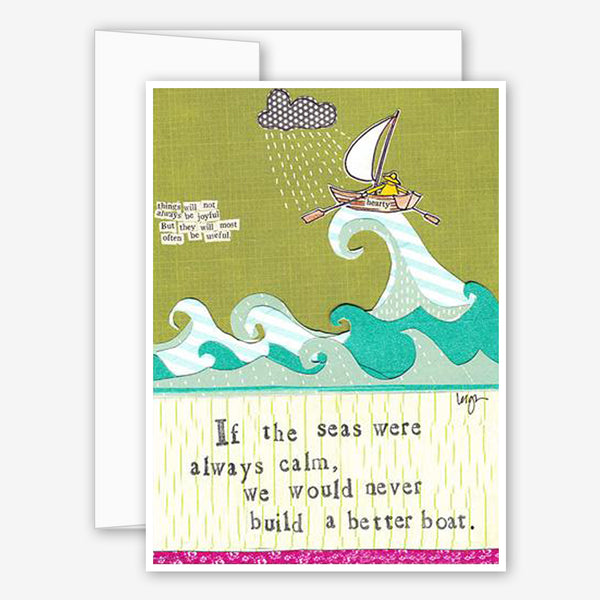Curly Girl Design: Encouragement Card: Better Boat