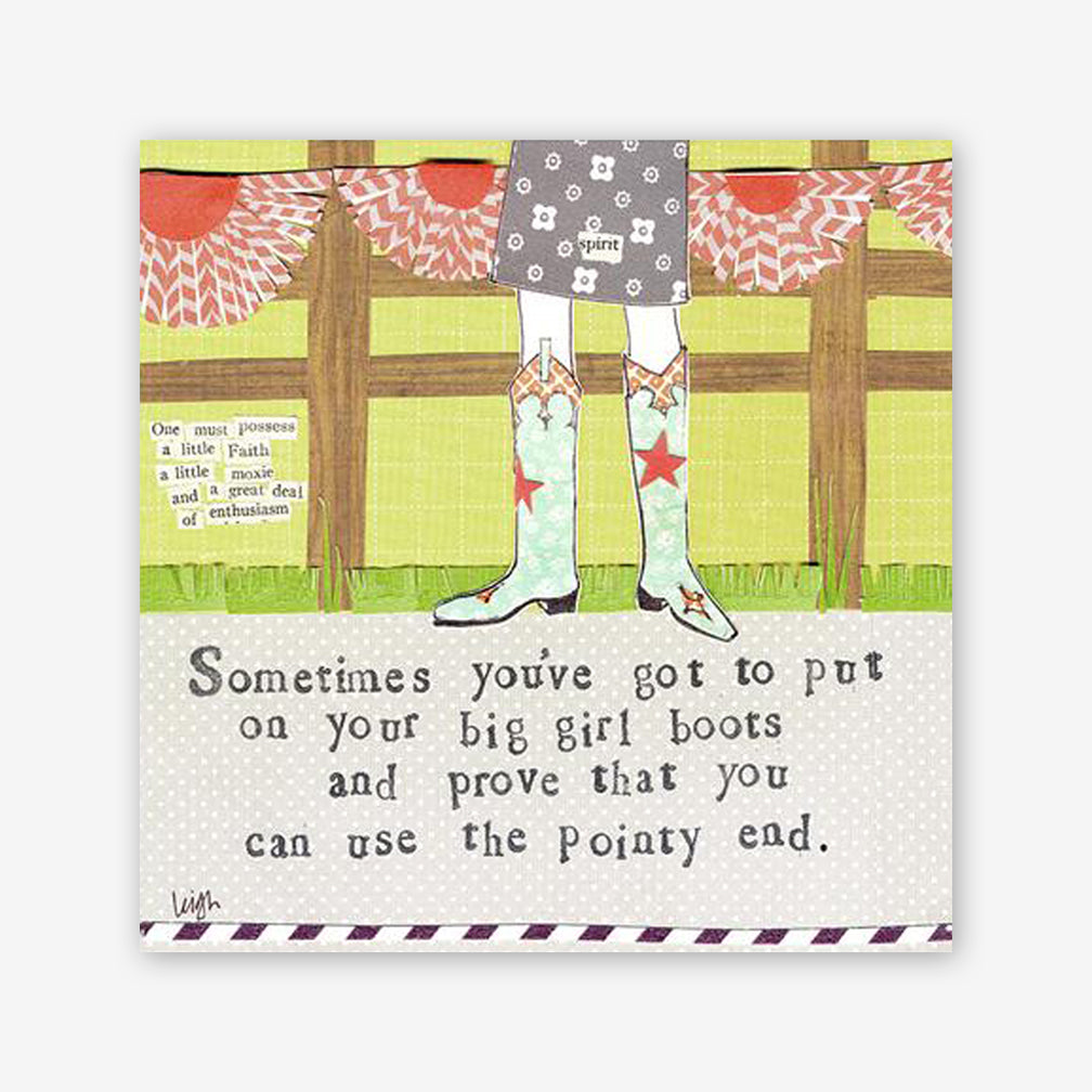Curly Girl Design: Magnet: Big Girl Boots
