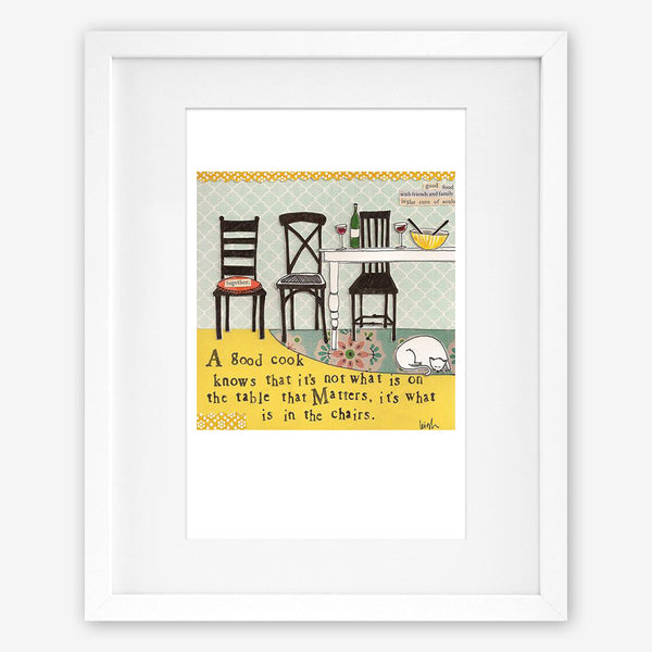 Curly Girl Design: Matted Print: In The Chairs