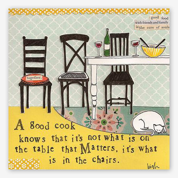 Curly Girl Design: Mini Canvas: In The Chairs