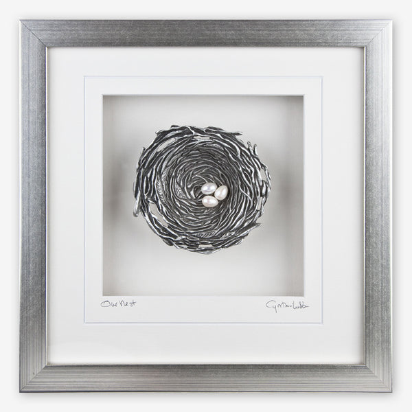 Cynthia Webb Designs: Framed Pewter: Bird's Nest