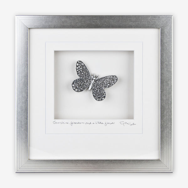 Cynthia Webb Designs: Framed Pewter: Butterfly