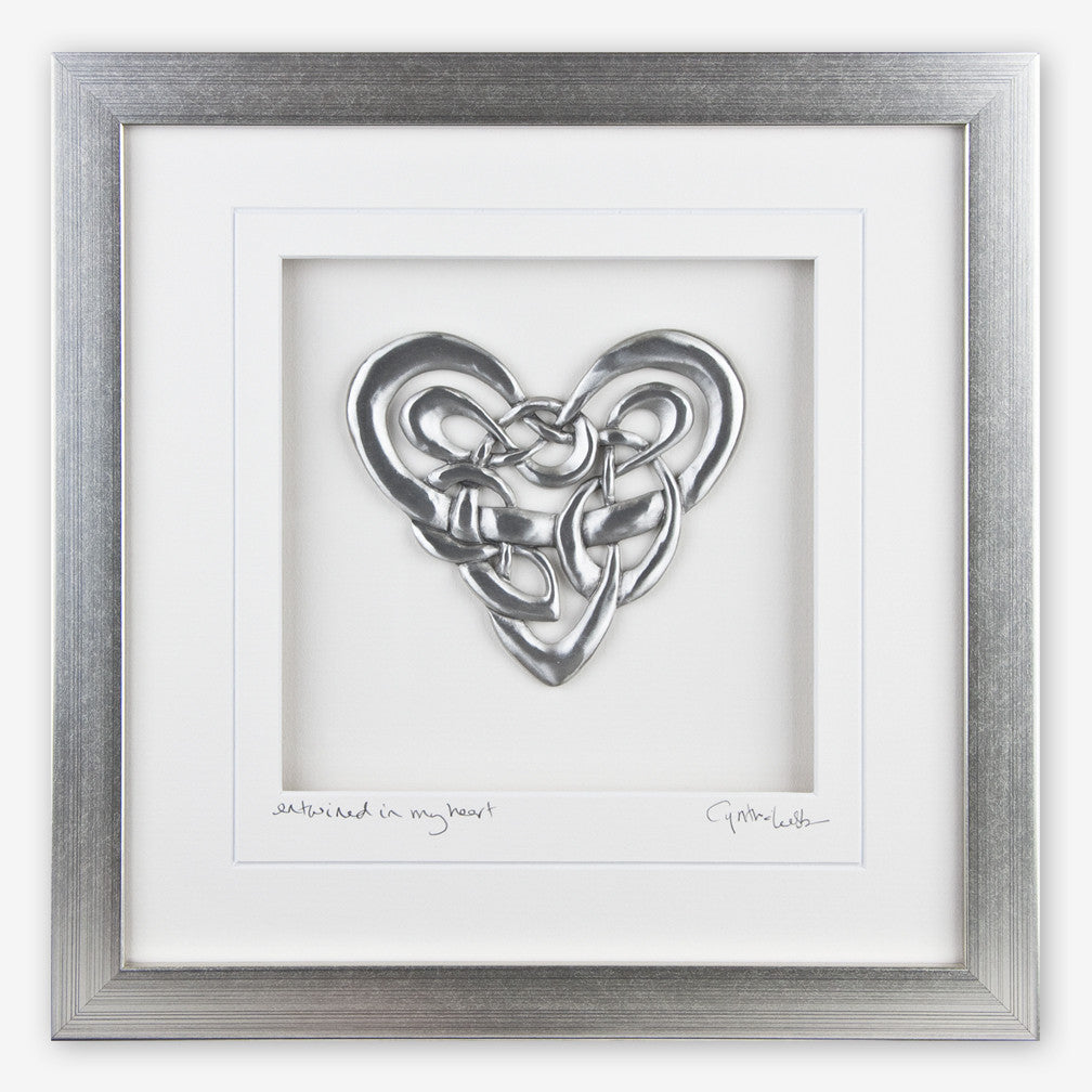 Cynthia Webb Designs: Framed Pewter: Celtic Heart