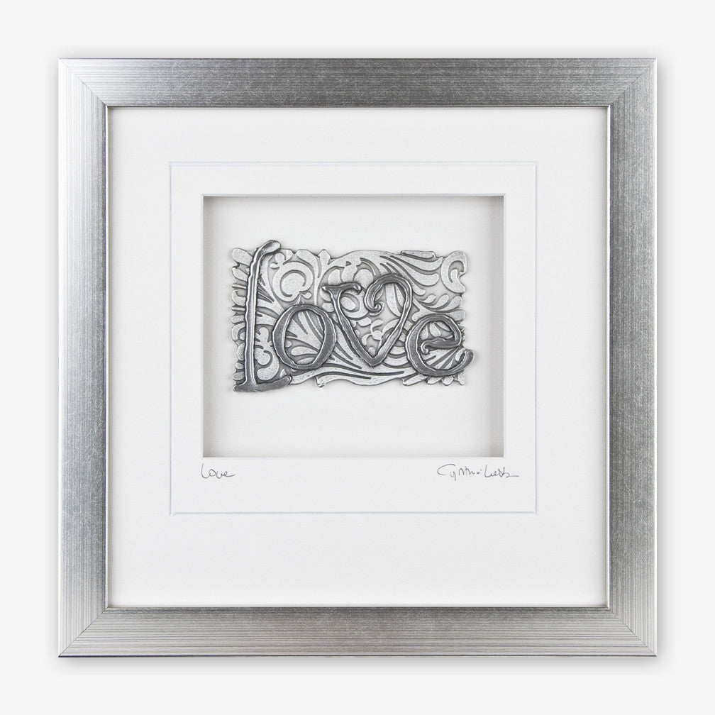 Cynthia Webb Designs: Framed Pewter: Love