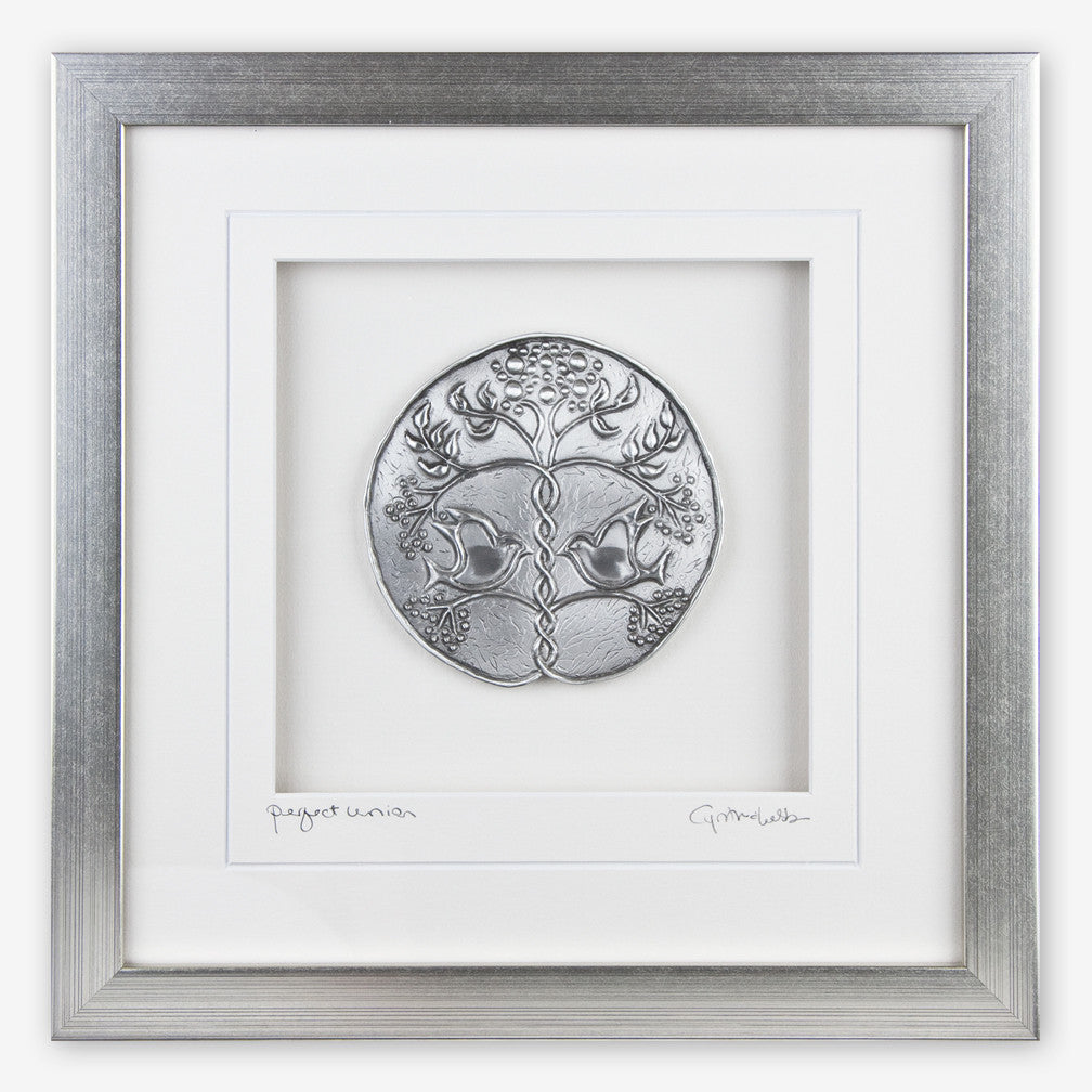 Cynthia Webb Designs: Framed Pewter: Perfect Union