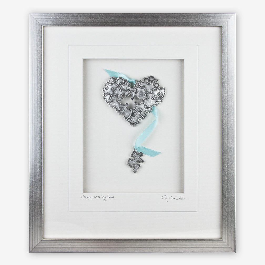 Cynthia Webb Designs: Framed Pewter: Puzzle Heart