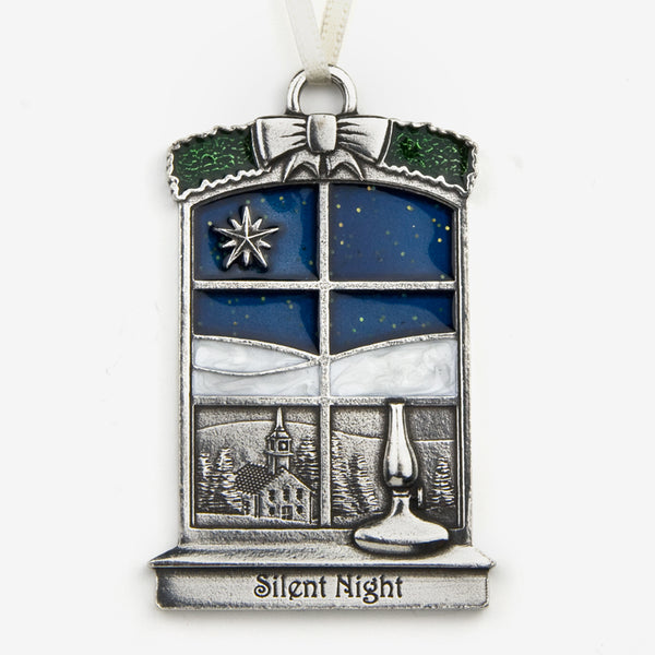 Danforth Pewter: Pewter Ornaments: Silent Night 2018 Annual Ornament