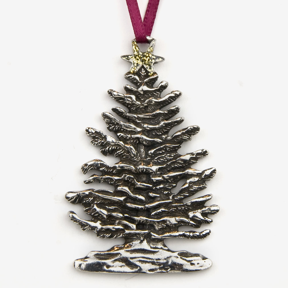 Danforth Pewter: Pewter Ornaments: Snowy Tree Ornament