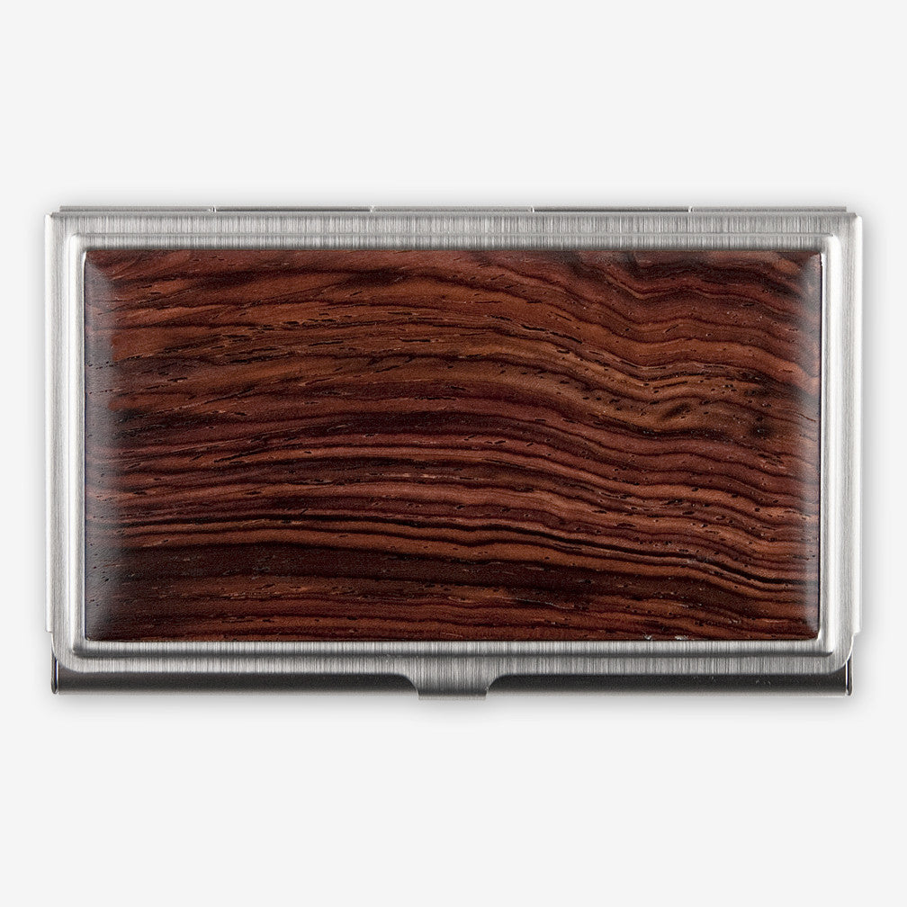 Davin & Kesler: Business Card Case: Solid Cocobolo