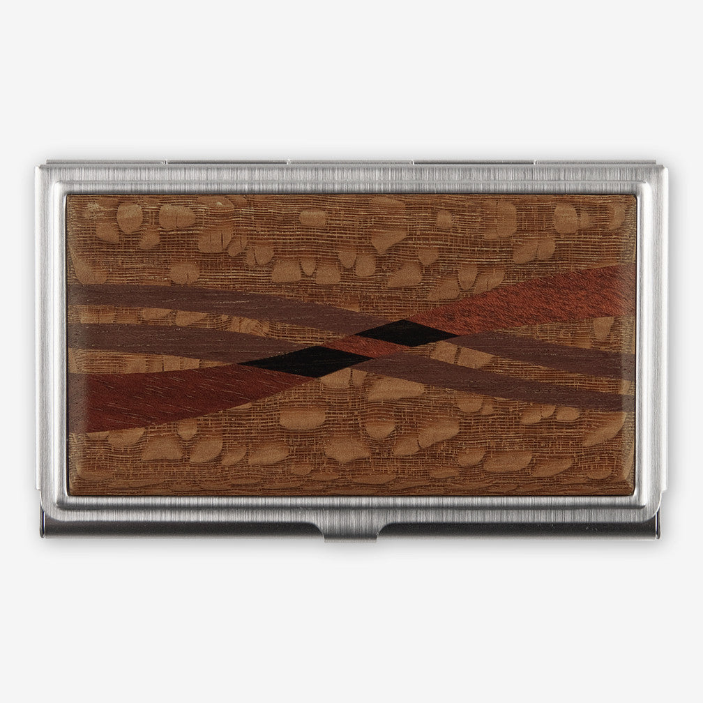 Davin & Kesler: Business Card Case: Inlay Lacewood