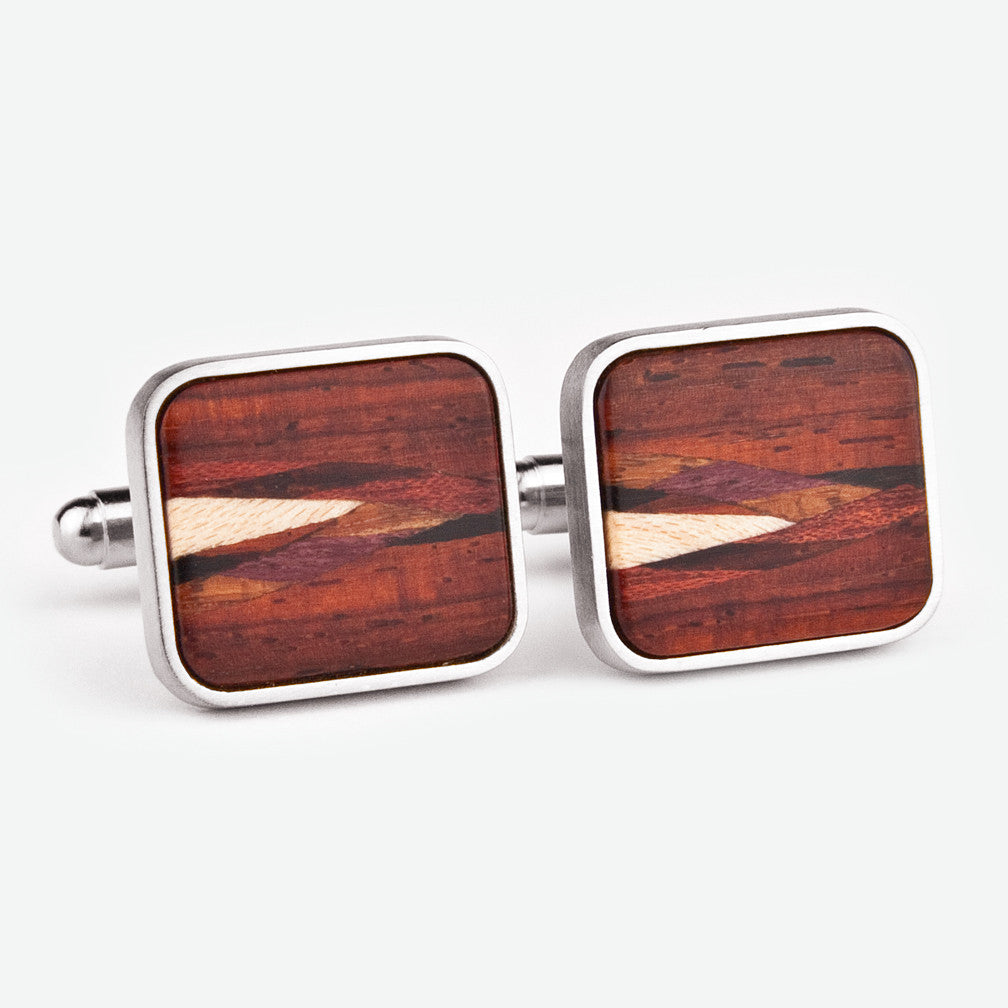 Davin & Kesler: Cuff Links: Inlay Cocobolo
