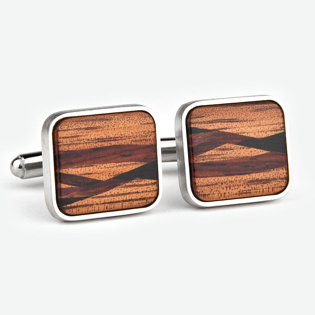 Davin & Kesler: Cuff Links: Inlay Lacewood