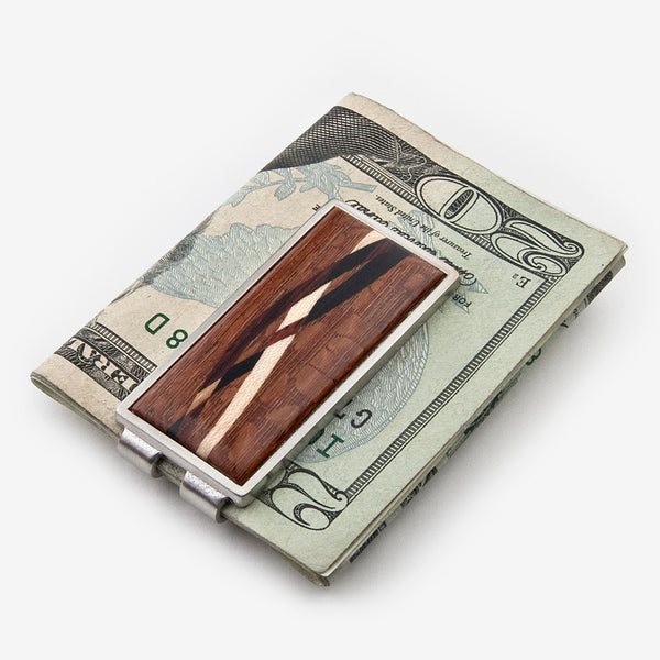 Davin & Kesler: Money Clip: Inlay Lacewood