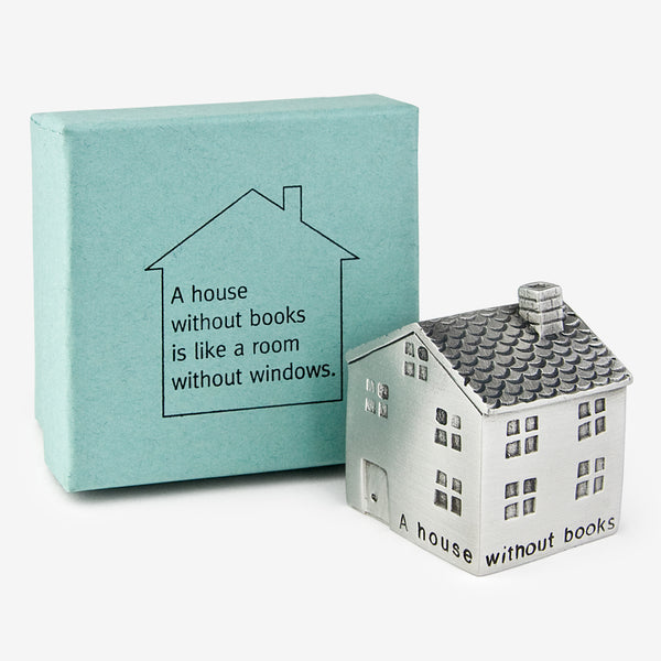 Danforth Pewter: Paperweight: A House Without Books