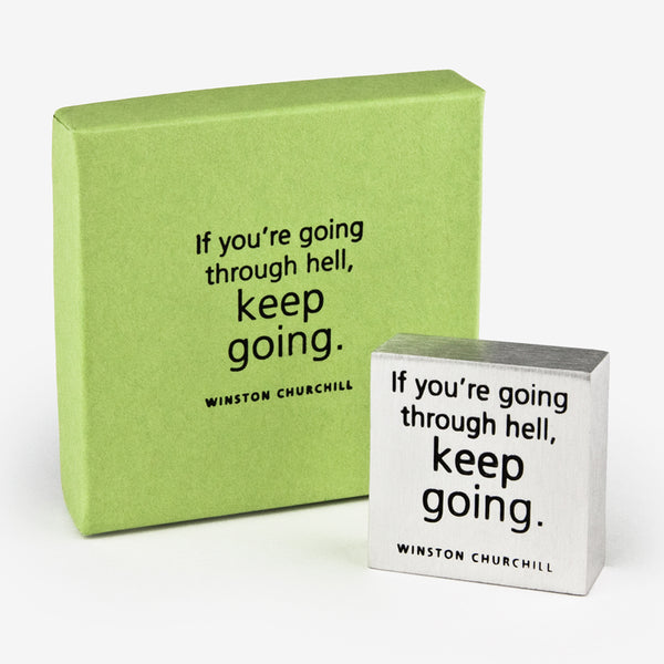 Danforth Pewter: Paperweight: Keep Going