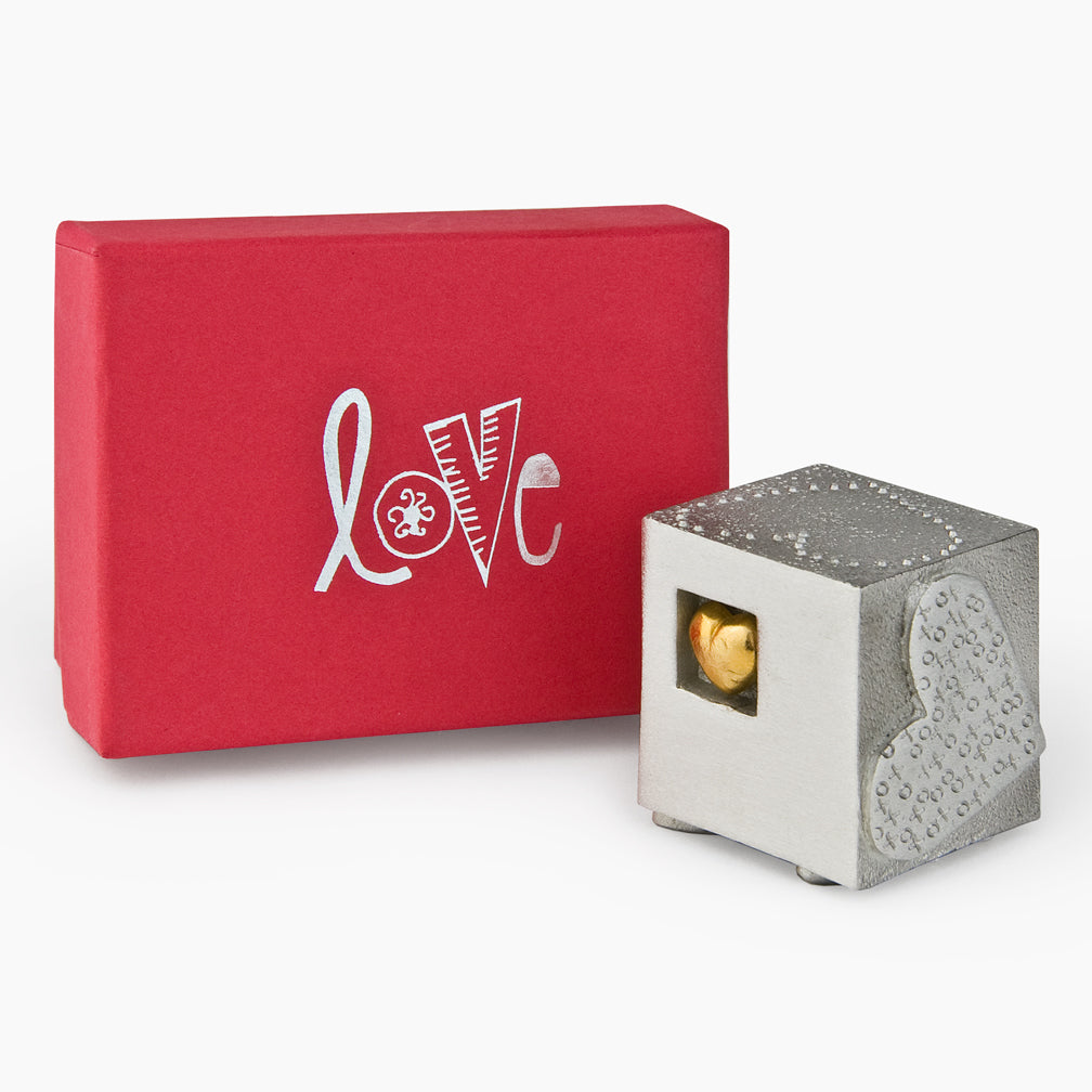 Danforth Pewter: Paperweight: Love Cube