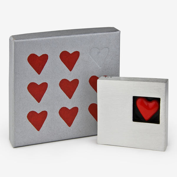 Danforth Pewter: Paperweight: Square Heart