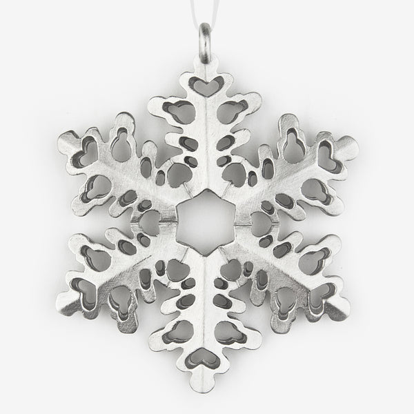 Danforth Pewter: Snowflake Ornament #1