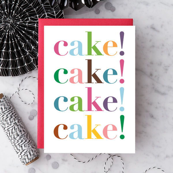Design With Heart Birthday Card: Cake!