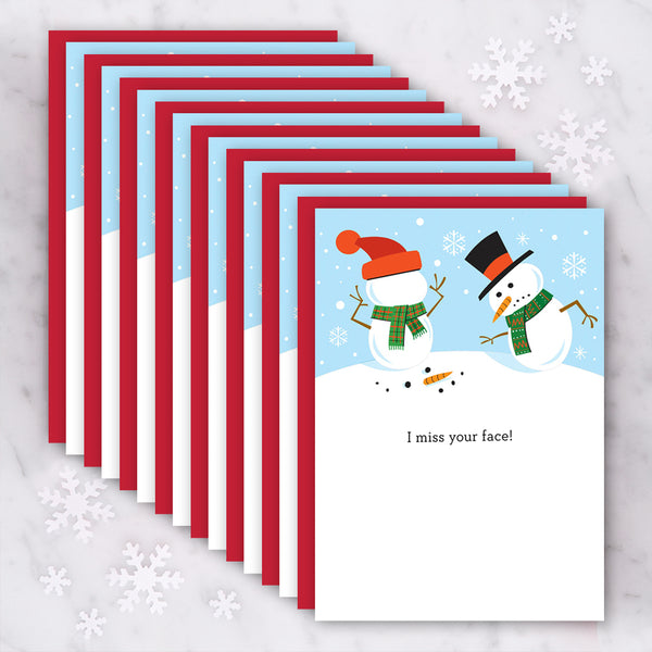 Design with Heart Studio Holiday Card: I Miss Your Face - Box Set