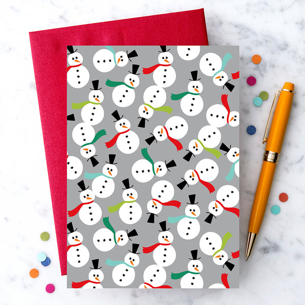 Design with Heart Studio Holiday Card: Holiday Snowmen