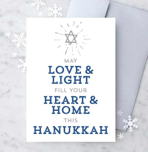 Design with Heart Studio Hanukkah Card: May Love & Life