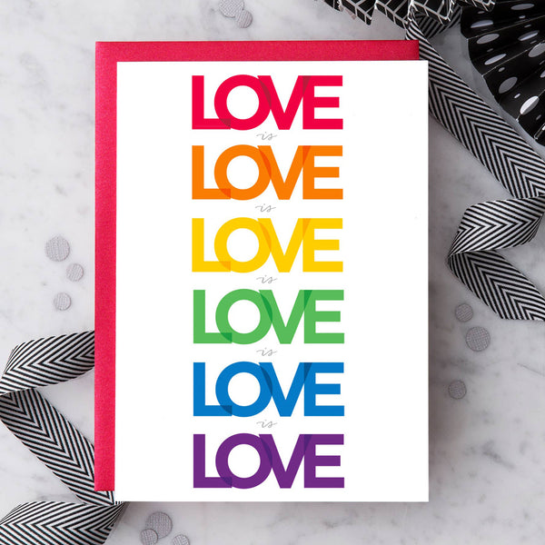 Design With Heart Love Card: Love Is Love