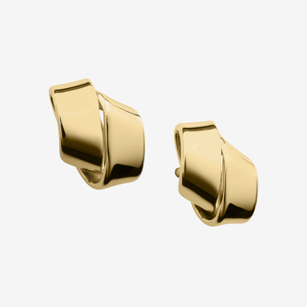Ed Levin Designs: Earrings: Love Knot, 14K Gold