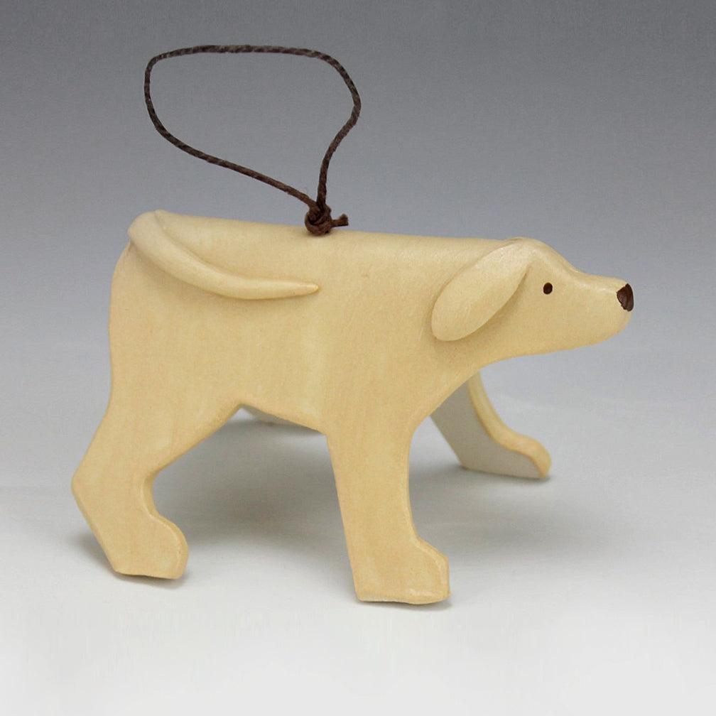 Evening Star Studio: Ornament: Blonde Dog