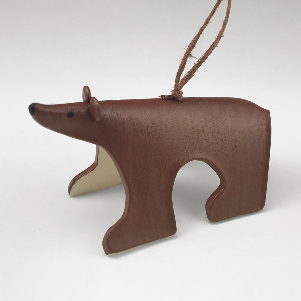 Evening Star Studio: Ornament: Brown Bear