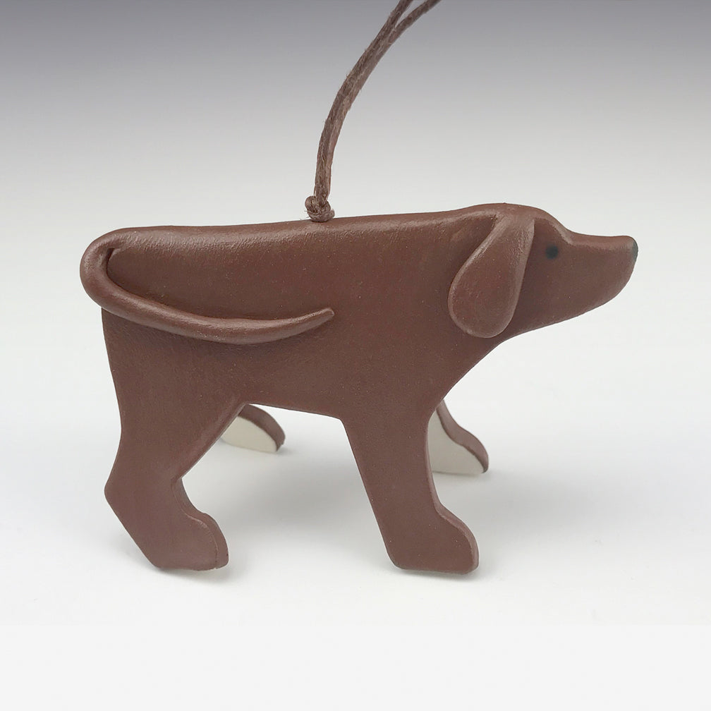 Evening Star Studio: Ornament: Brown Dog