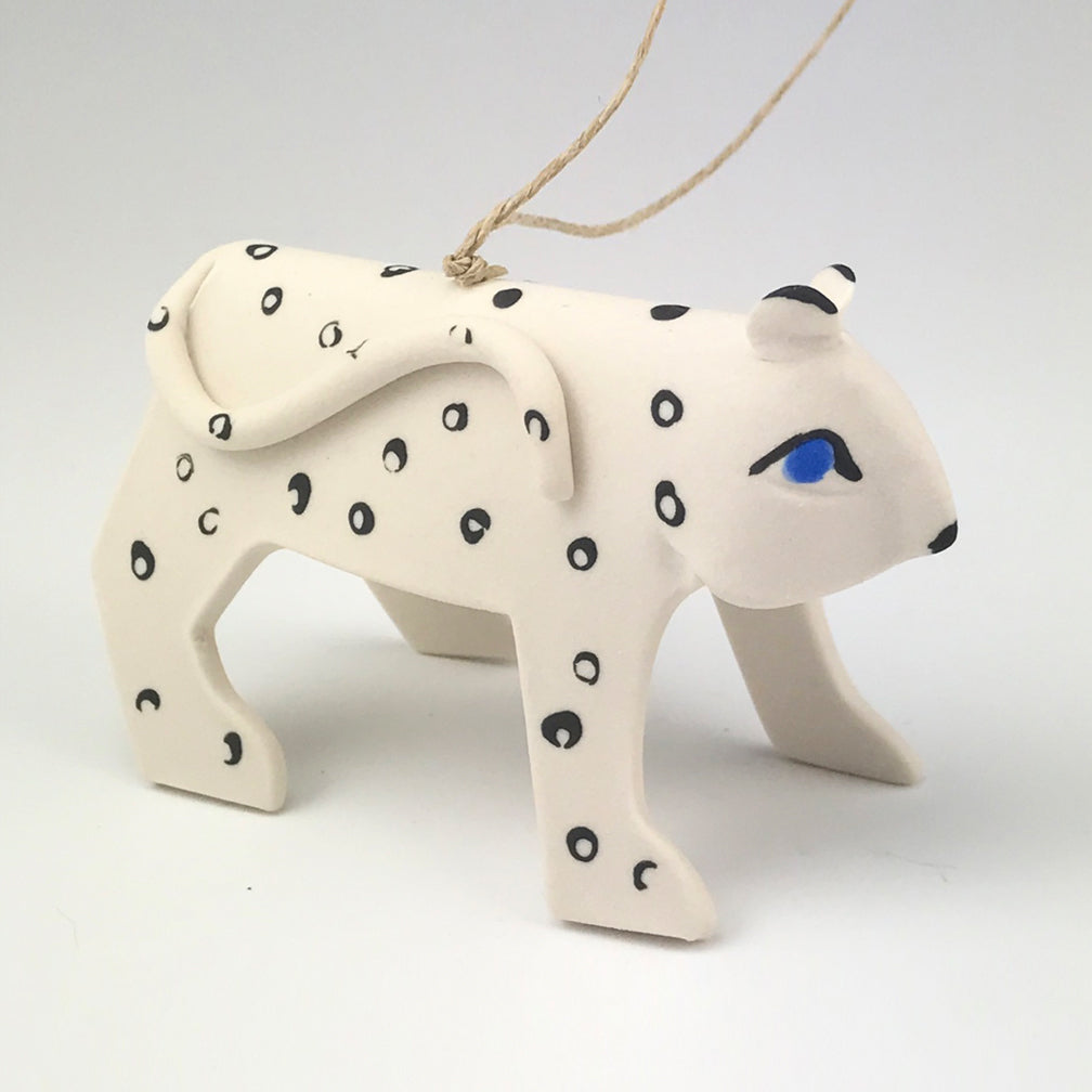 Evening Star Studio: Ornament: Snow Leopard