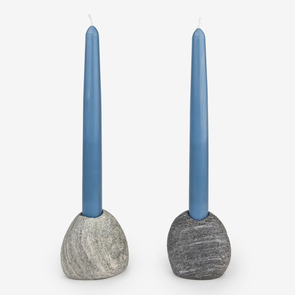 Funky Rock Designs: Beach Stone Candle Stick Holders