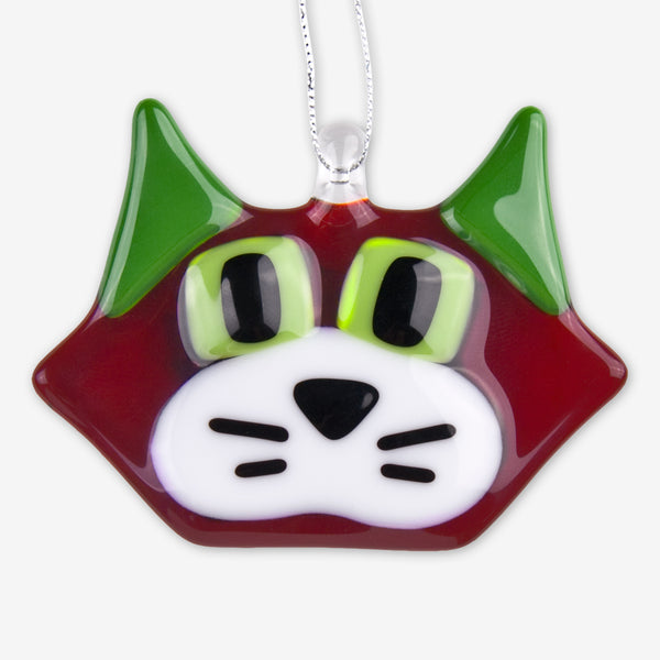 Glassworks Northwest: Fused Glass Ornaments: Christmas Cat