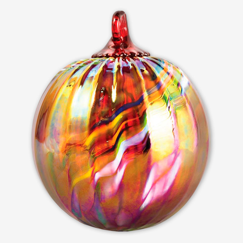 Glass Eye Studio: Classic Round Ornaments: Holiday Swirl