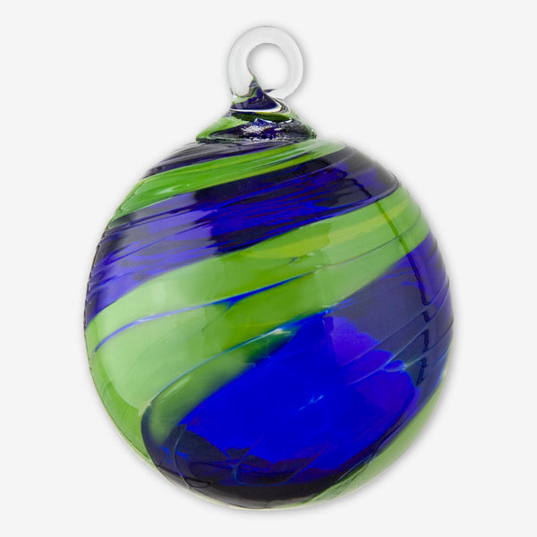 Glass Eye Studio: Classic Round Ornaments: Sunday Blue