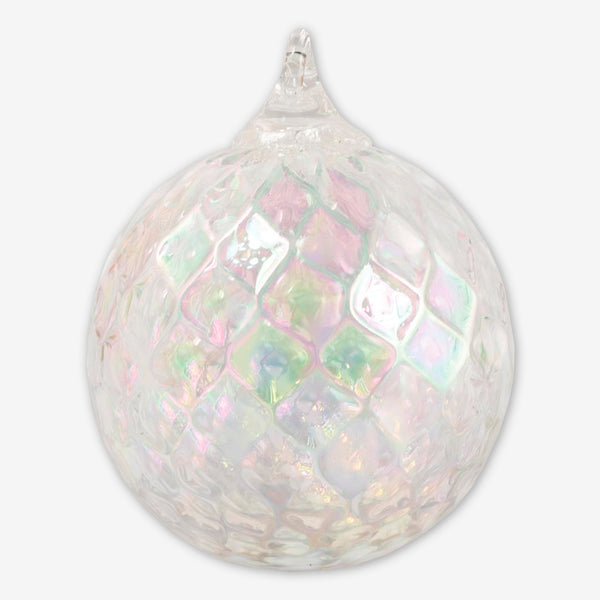 Glass Eye Studio: Classic Round Ornaments: Clear Diamond Facet