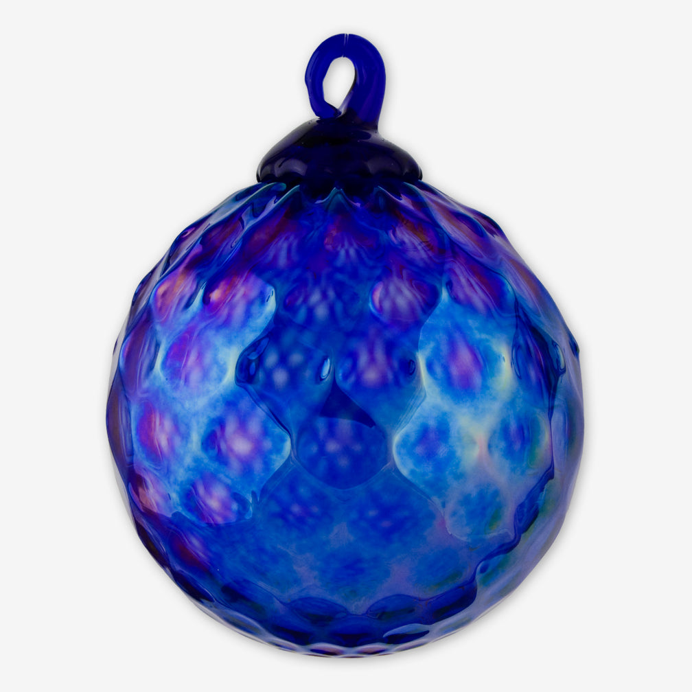 Glass Eye Studio: Classic Round Ornaments: Sapphire Cobalt Diamond Facet