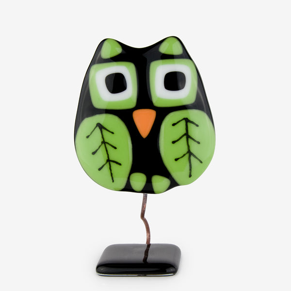 Glassfire Jewelry & More: Small Owl, Black