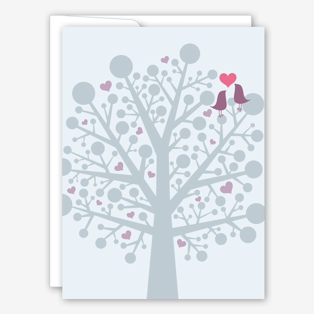 Great Arrow Anniversary Card: Love Birds in a Tree