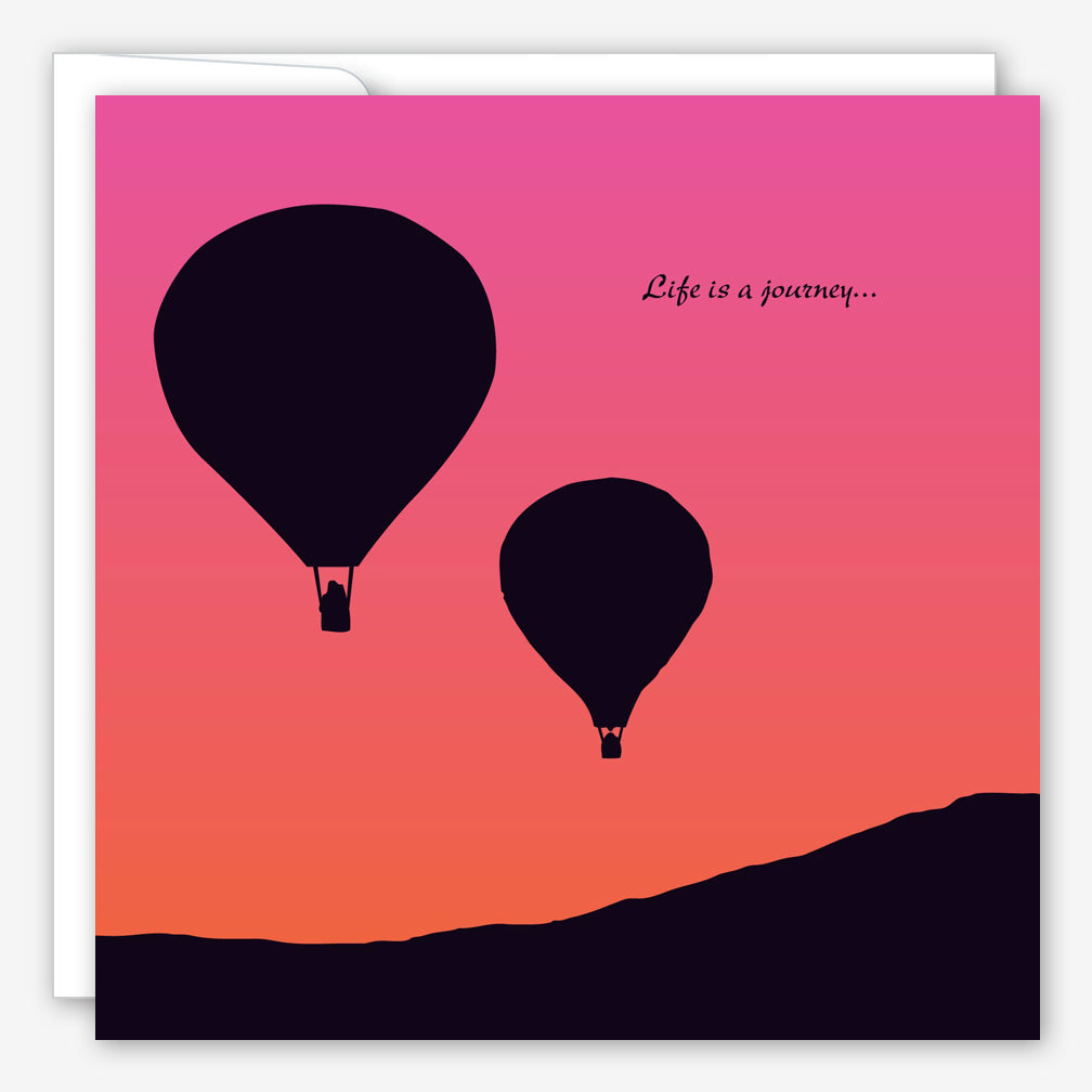 Great Arrow Anniversary Card: Hot Air Balloons