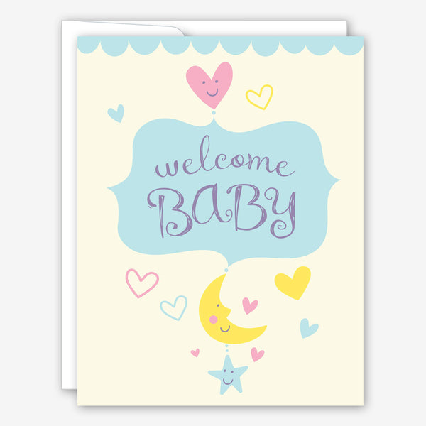 Great Arrow Baby Card: Welcome Baby Mobile