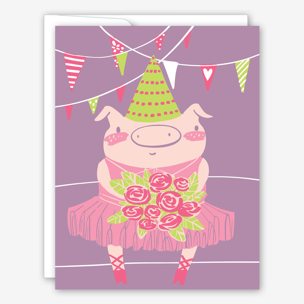 Great Arrow Birthday Card: Tutu Party Piggy